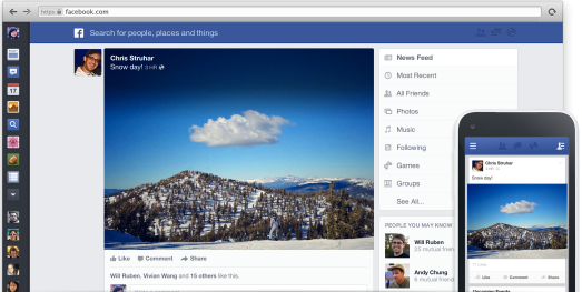 Facebook's updated news feed will have bigger, bolder photos.